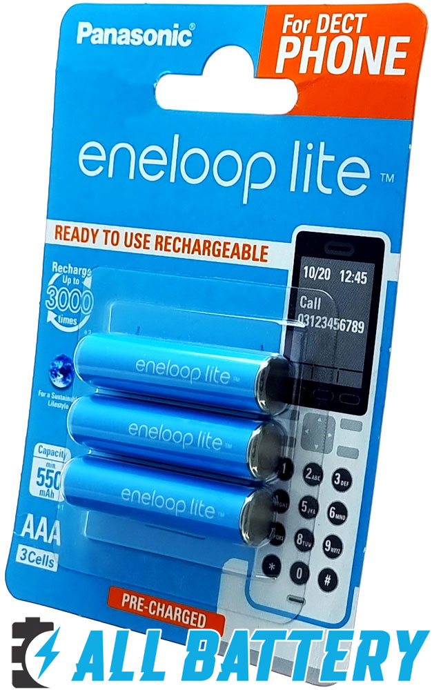 Panasonic Eneloop Lite 600 mAh (min 550 mAh) BK-4LCCE 3DE в блистере. 3000 Циклов!