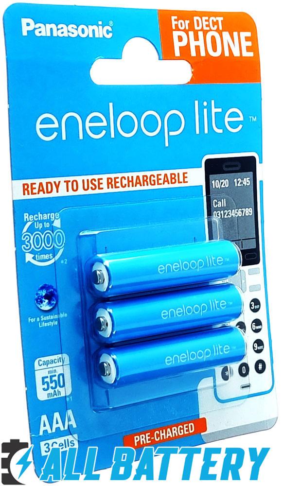 Аккумуляторы Panasonic Eneloop Lite AAA 600 mAh (min 550 mAh) BK-4LCCE / 3DE.