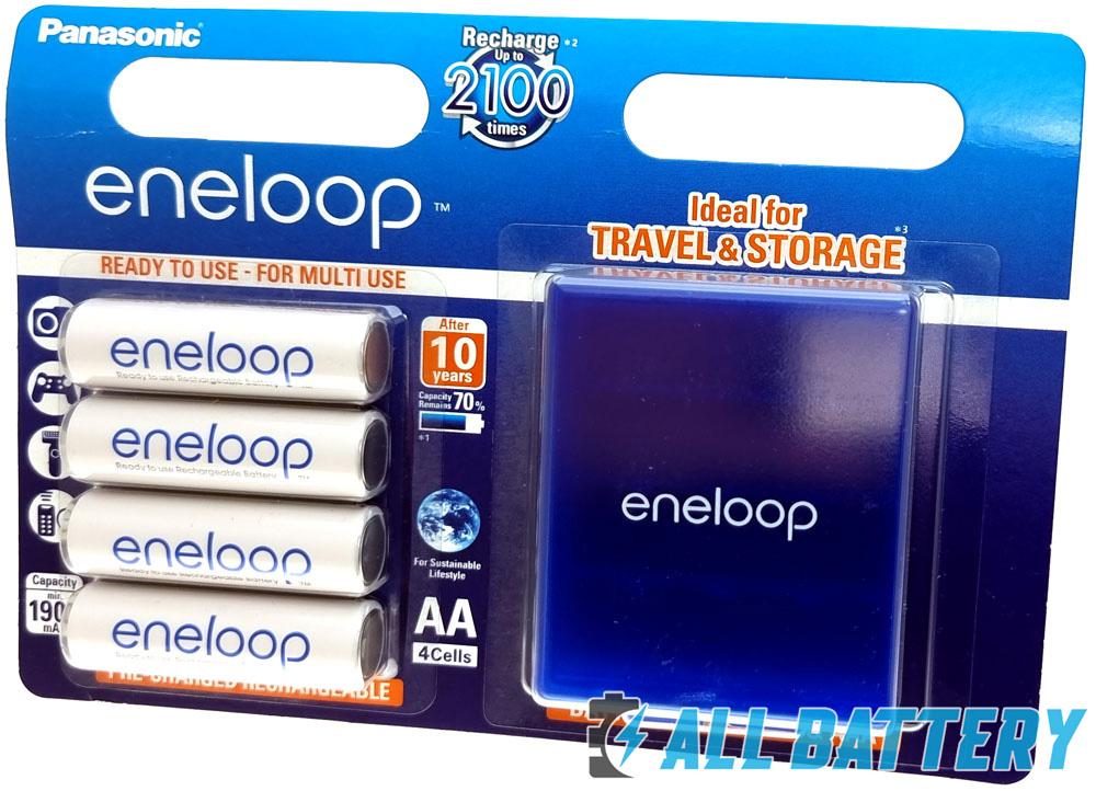 Аккумуляторы Eneloop 2000 mAh BK-3MCCE 4BE (АА) с боксом в комплекте.
