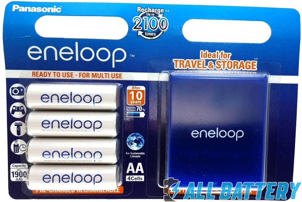 Panasonic Eneloop 2000 mAh (min. 1900 mAh) BK-3MCCE/4BE 4 шт. в пластиковом блистере + фирменный бокс Eneloop.