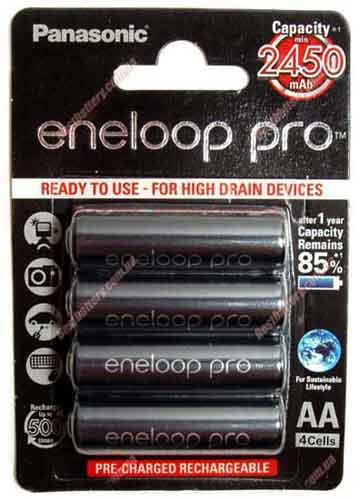 Panasonic Eneloop Pro 2550 mAh (BK-3HCCE) в блистере