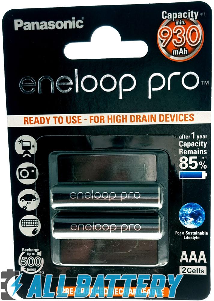 Panasonic Eneloop Pro 980 mAh (min 930 mAh) BK-4HCDE 2BE в блистере.