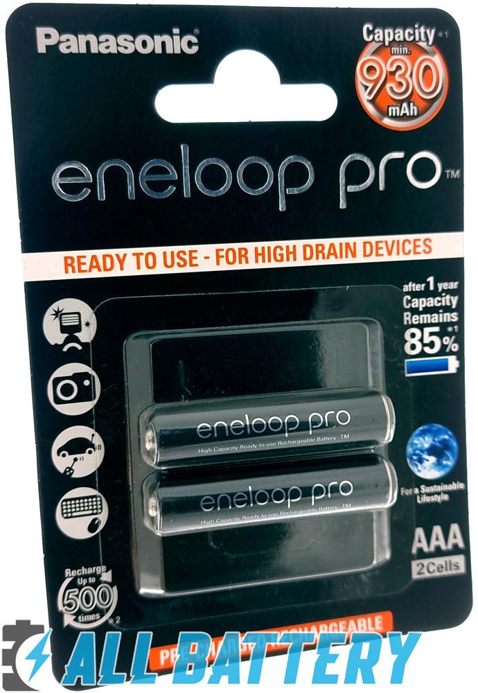 Panasonic Eneloop Pro 980 mAh (min. 930 mAh), серия BK-4HCDE 2BE (ААА).
