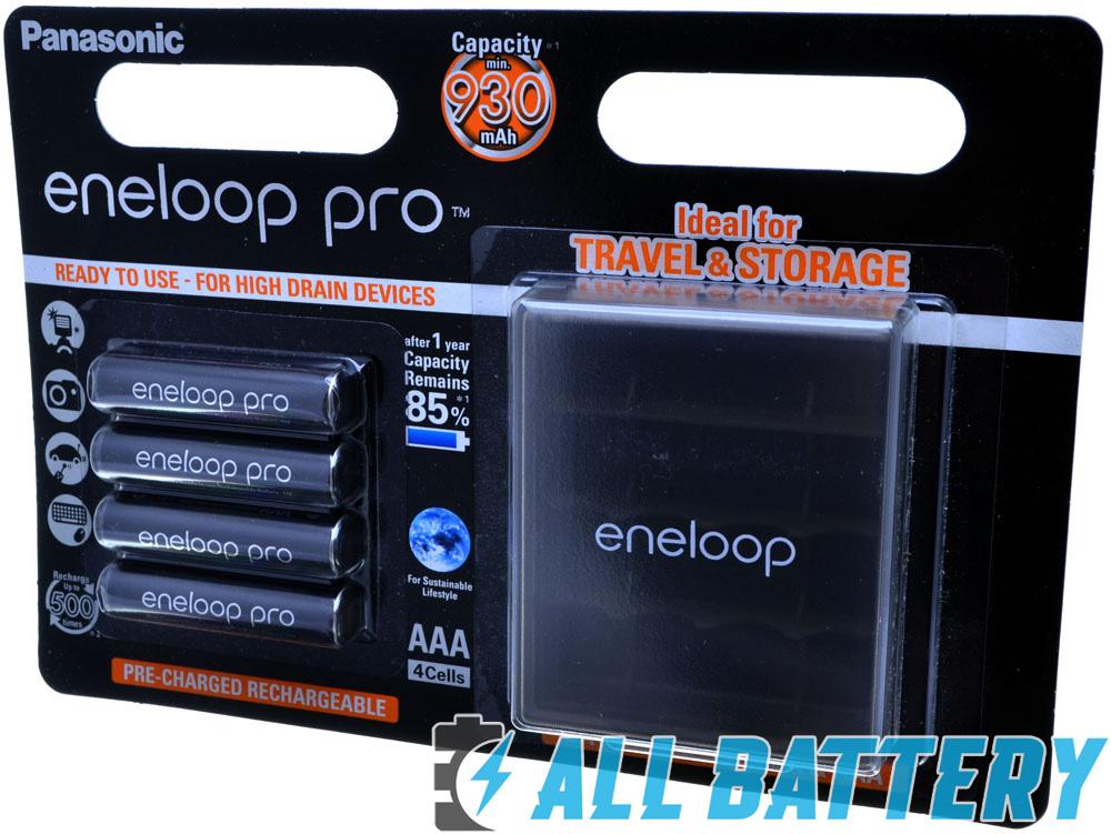 Panasonic Eneloop Pro 980 mAh (min. 930 mAh) серия BK-4HCDE 4BE + оригинальный бокс Eneloop.