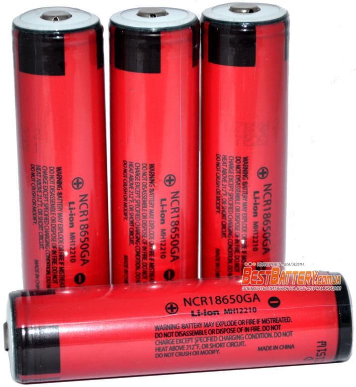 Защищенный Li-Ion аккумулятор PANSONIC / SANYO NCR18650GA 3500 mAh 10A.