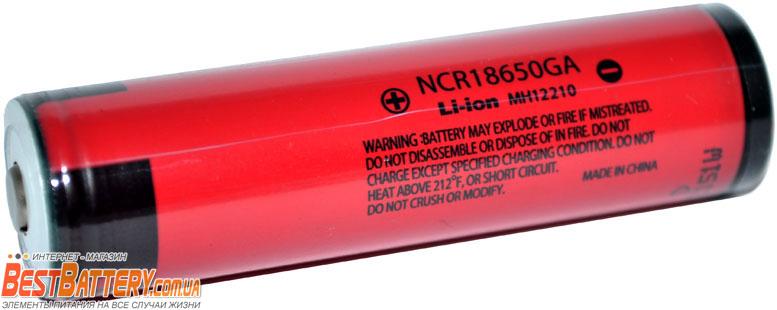 Аккумуляторы Panasonic NCR 18650 GA 3500 mAh с защитой.