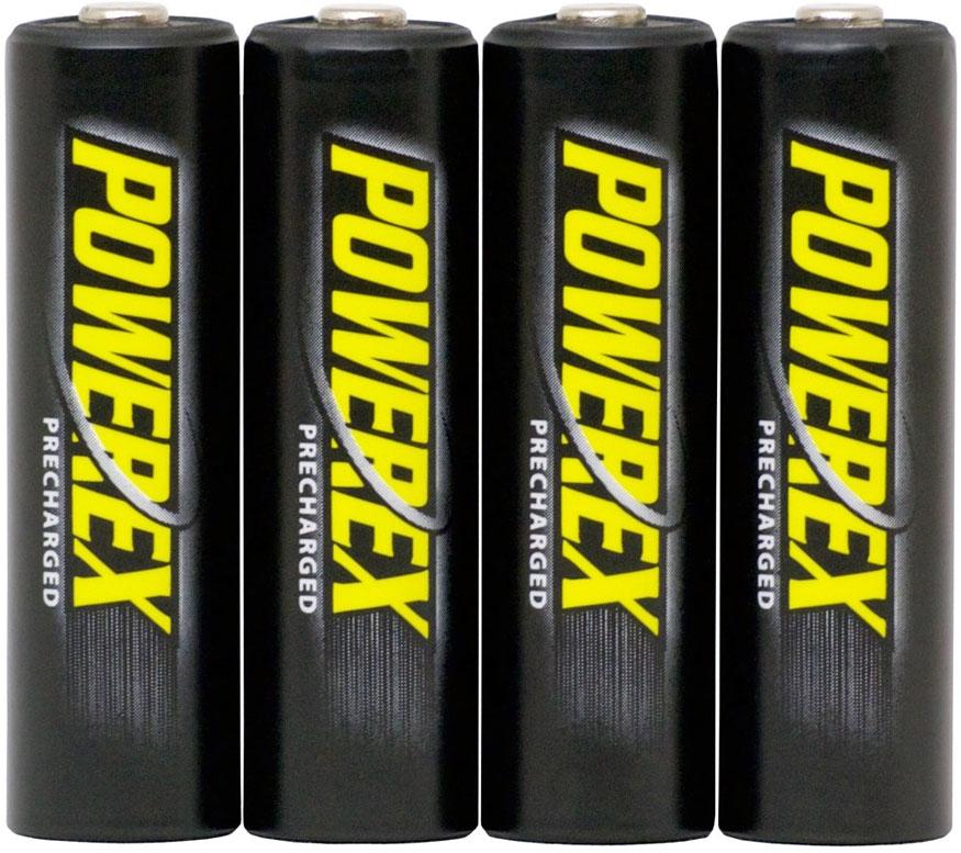 Пальчиковые аккумуляторы Powerex 2600 mAh с низким саморазрядом в пластиковом боксе (АА).