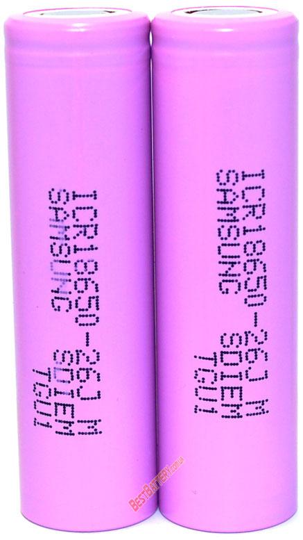 Samsung ICR18650 2600 mAh 26J - промышленные Li-ion аккумуляторы формата 18650 без защиты
