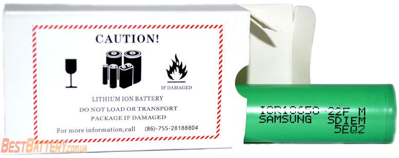 Аккумуляторы Samsung ICR 18650-22F без защиты.