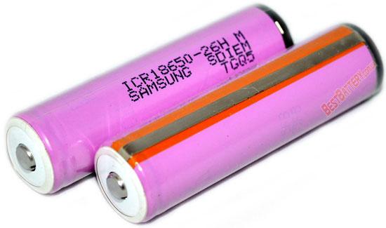 Li-ion аккумулятор Samsung ICR18650 26H 2600 mAh с защитой (Protected).