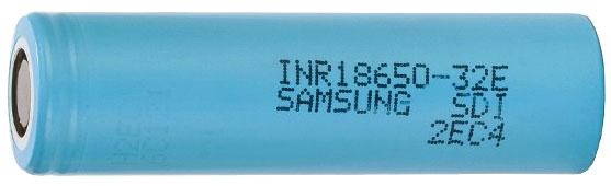 Samsung INR18650 32E 3200 mAh 3.7V Li-ion аккумулятор без защиты.