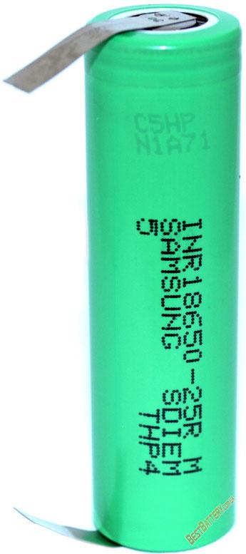 Особенности Samsung INR18650 25R с лепестками
