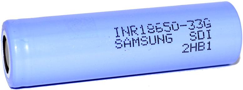 Samsung INR18650 33G 3,7V 3300 mAh Li-ion аккумулятор без защиты.