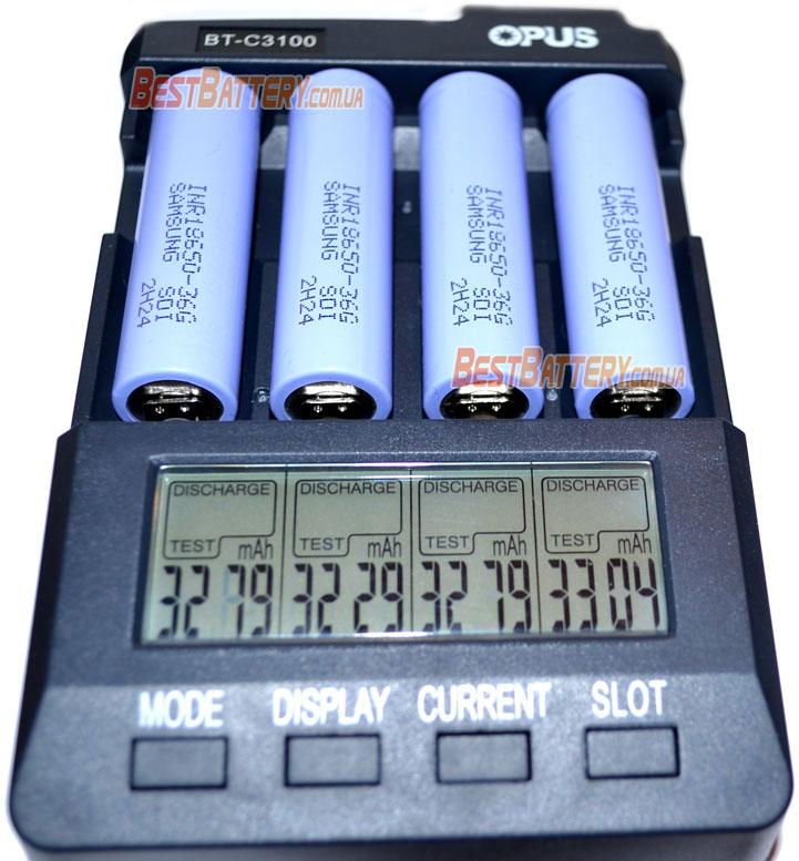 Li-Ion аккумуляторы Samsung INR 18650 36G 3600mAh результат тестирования.