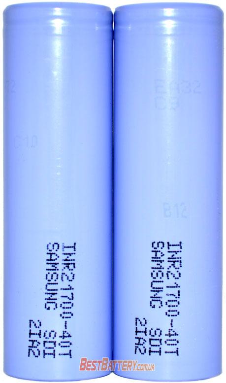 Samsung 21700 40T 4000 mAh высокотоковый Li-ion INR аккумулятор без защиты.
