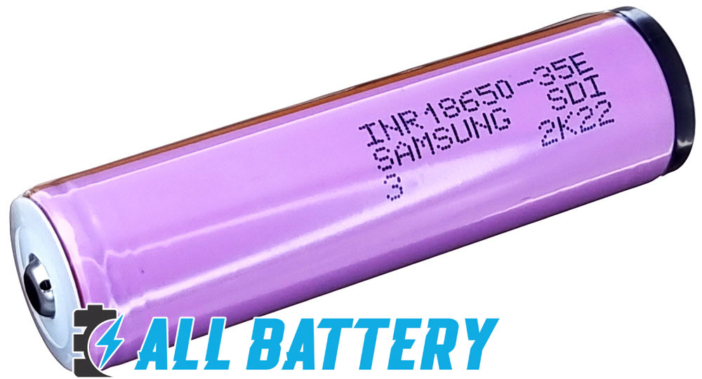 Samsung 35E 18650 3500 mAh INR С защитой - литий-ионный аккумулятор формата 18650.