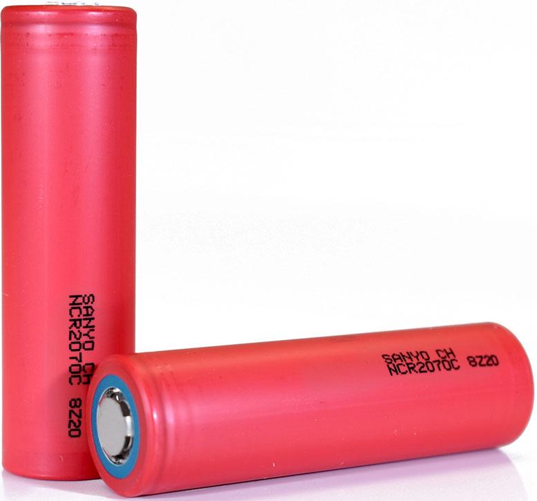 SANYO NCR2070C 3500 mAh 30A Li-ion аккумулятор формата 20700 без защиты.
