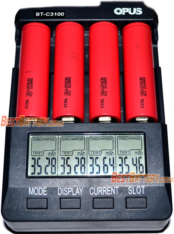 Тестирование аккумуляторов Sanyo NCR2070C 3500 mAh (30A).