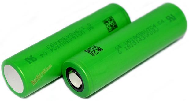Sony / Murata US18650VTC4 2100 mAh 30A - высокотоковый Li-ion промышленный аккумулятор формата 18650.