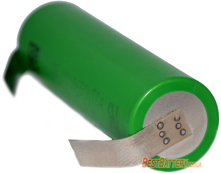 Аккумуляторы Sony / Murata 18650 VTC4 с лепестками под пайку - минусовой контакт.