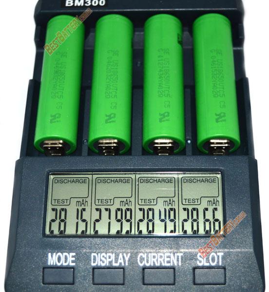 Результат тестирования аккумуляторов Sony / Murata US18650 VTC5 2600 mAh 30A: