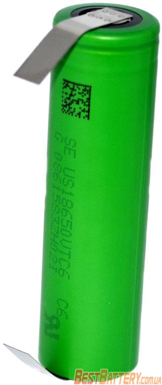 SONY / MURATA US 18650 VTC6 3120 mAh 30A (80A) с лепестками под пайку