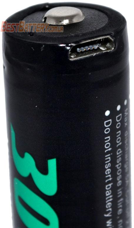 Аккумуляторы Soshine Li-Ion 18650 3.7V 3000 mAh с USB зарядным устройством.