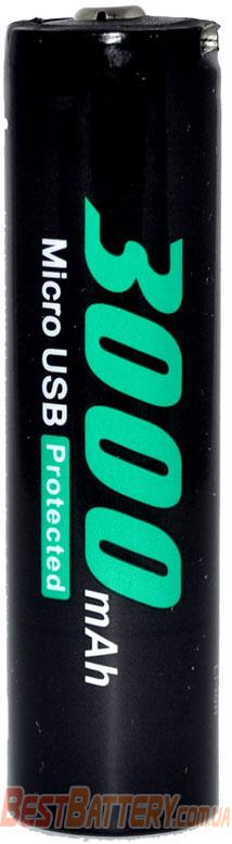 Техническая характеристика 18650 Soshine 3000 3.7V Li-Ion USB.