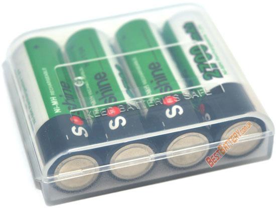 Soshine 2700 mAh пальчиковые аккумуляторы повышенной ёмкости в боксе. (АА)