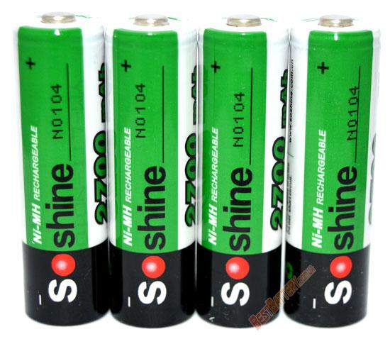 Пальчиковые аккумуляторы Soshine 2700 mAh АА