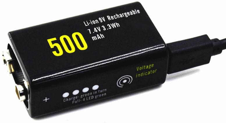 Soshine 9V 500 mAh Li-ion аккумулятор типа Крона с micro USB зарядным устройством.