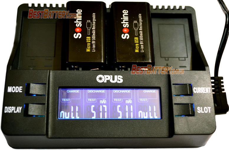 Реальная ёмкость аккумуляторов Soshine Крона USB Li-Ion 500 mAh (результат теста).)