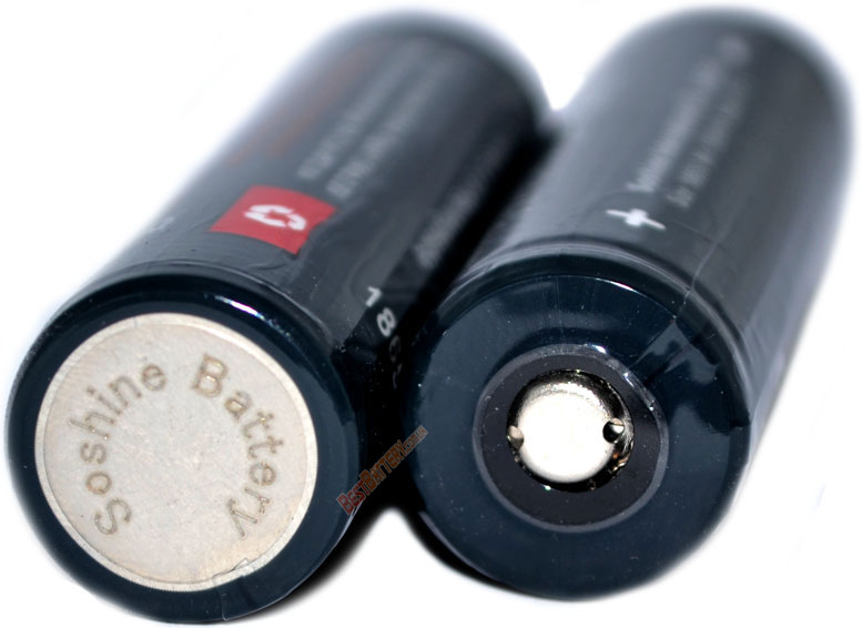 Аккумуляторы Soshine 1800 3.2V LiFePO4 Protected в боксе.