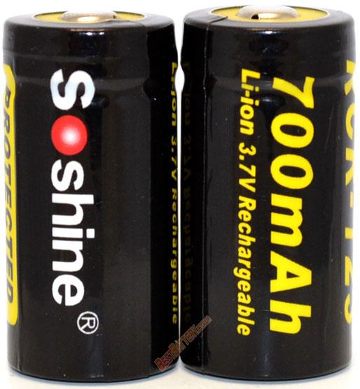 Технические характеристики Soshine 16340 700mAh 3,7V Protected