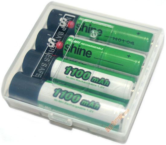 Аккумуляторы Soshine 1100 mAh AАА в боксе на 4 шт