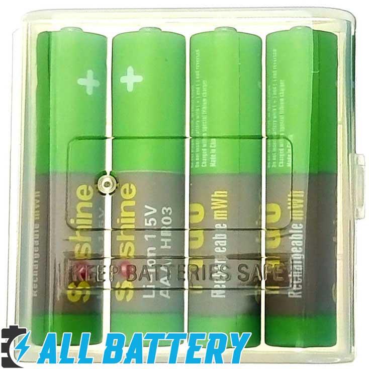 Soshine AAA 1.5V Li-Ion 1100 mWh минипальчиковые аккумуляторы на 1,5 вольта.