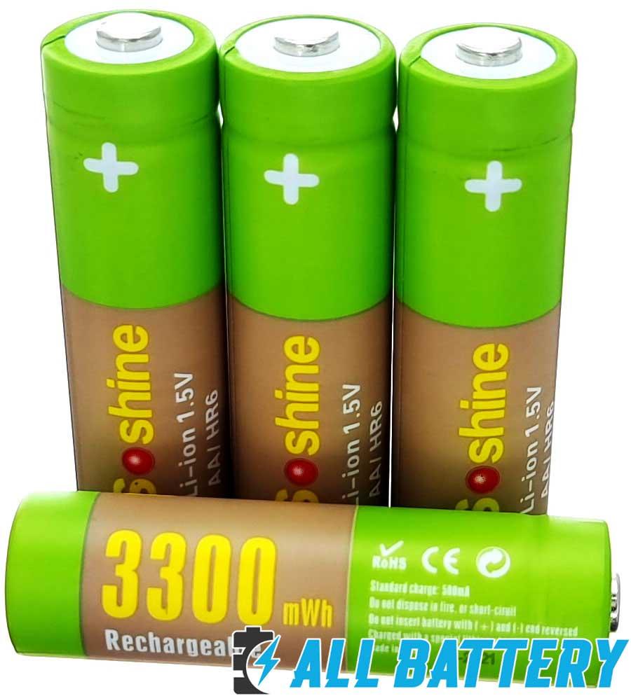 Soshine Li-Ion 1.5V AA 3300 mWh  - пальчиковые литий-ионные аккумуляторы нового поколения с номинальным рабочим напряжением в 1.5 вольта