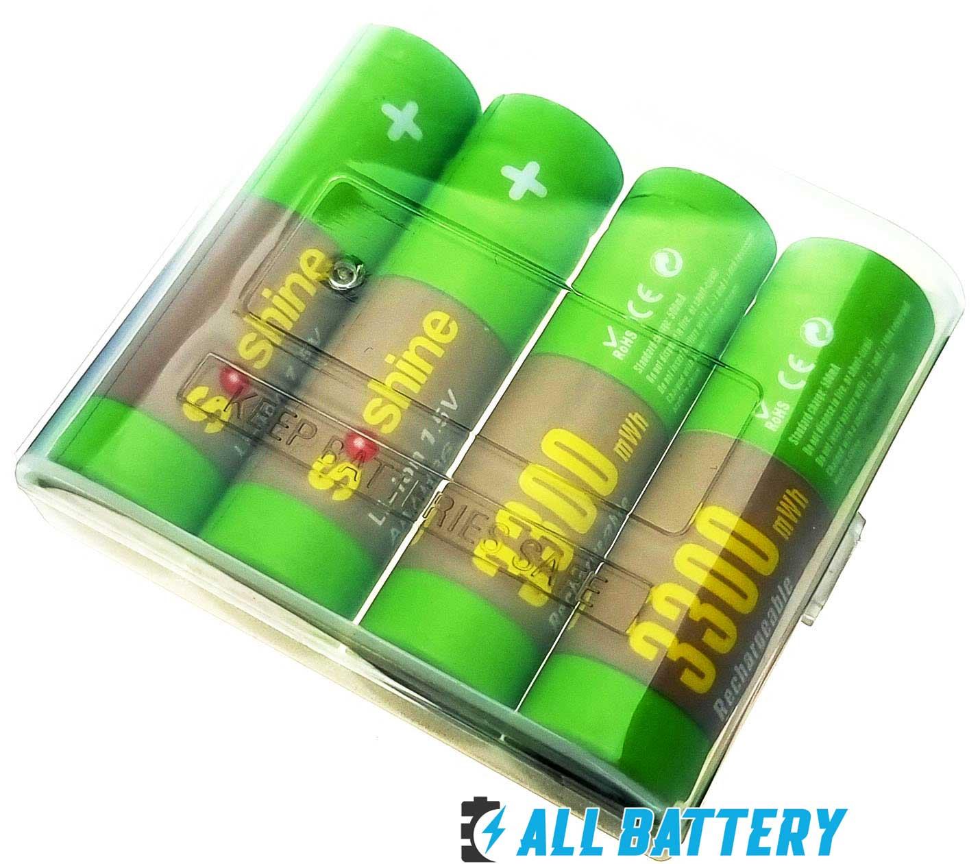 Soshine Li-Ion 1.5V AA 3300 mWh  - пальчиковые литий-ионные аккумуляторы нового поколения на 1,5 Вольта.