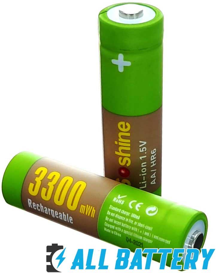 Soshine Li-Ion 1.5V AA 3300 mWh  - пальчиковые литий-ионные аккумуляторы нового поколения 1,5В.