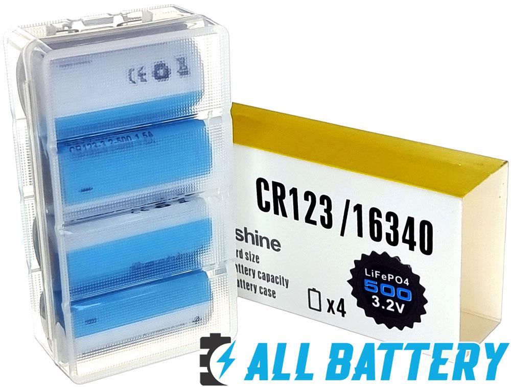 Soshine 16340 3.2В LiFePO4 500 mAh без защиты - литий-железо-фосфатные аккумуляторы (IFR) формата CR123.
