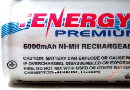 Преимущества аккумуляторов Tenergy Premium C(R14) 5000 mAh.