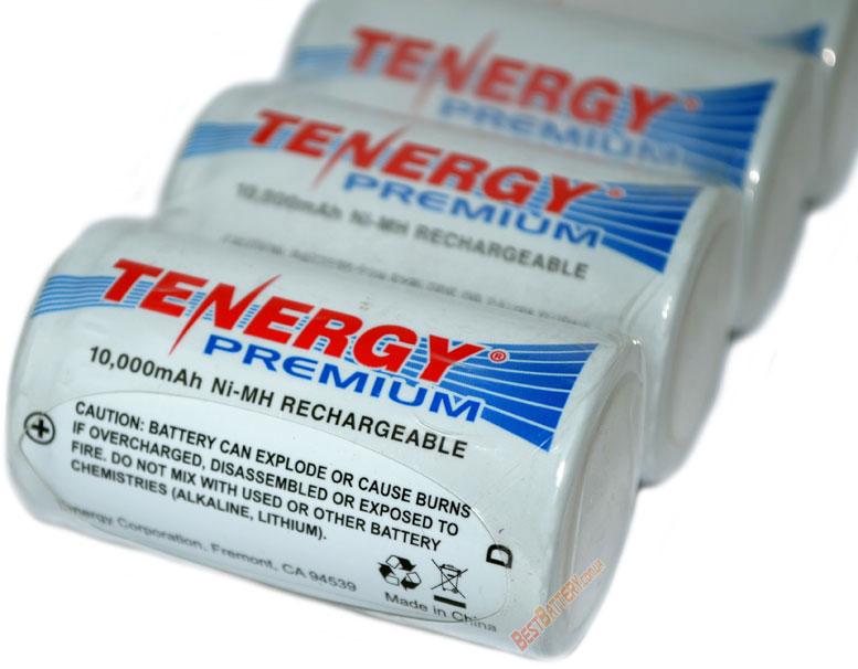 Преимущества Tenergy Premium D(R20) 10000 mAh.