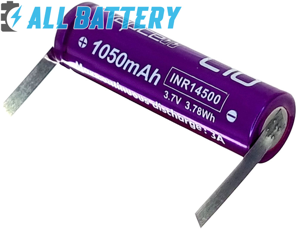 Аккумулятор 14500 Vapcell L10 1050mAh с лепестками под пайку.