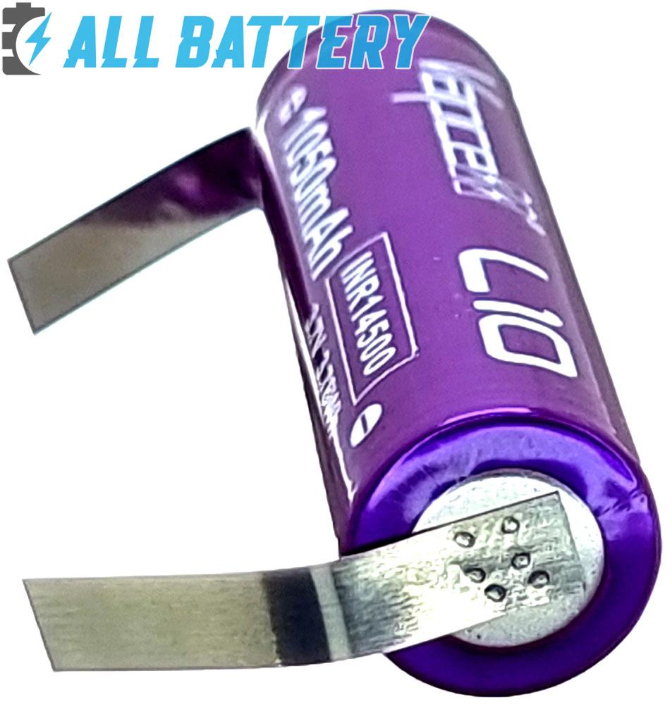 Li-ion аккумуляторы 14500 Vapcell L10 под пайку минусовый контакт.