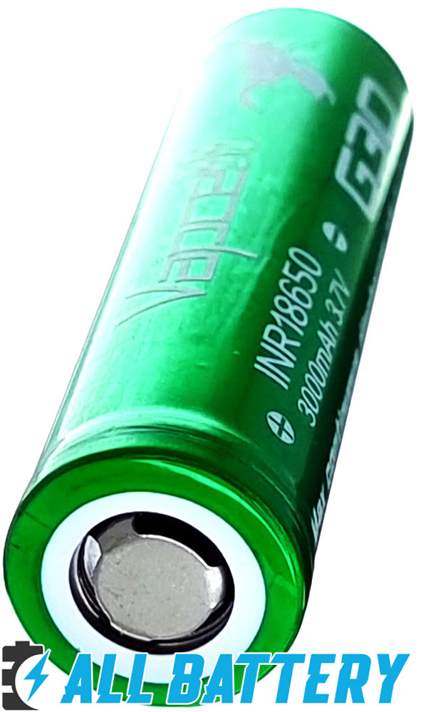 VapCell G30 18650 3000 mAh INR 15A (35А) - литий-ионные аккумуляторы формата 18650 без защиты.