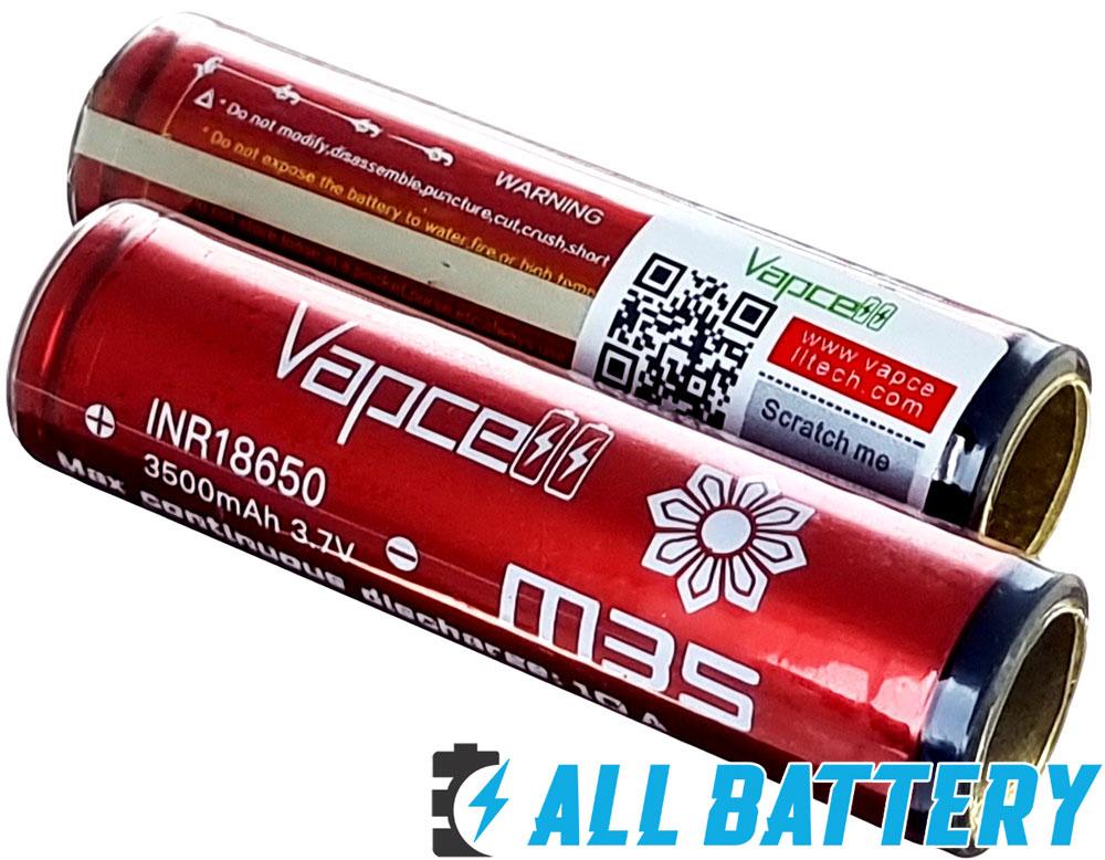 Li-Ion аккумуляторы 18650 Vapcell M35 3500 с защитой.