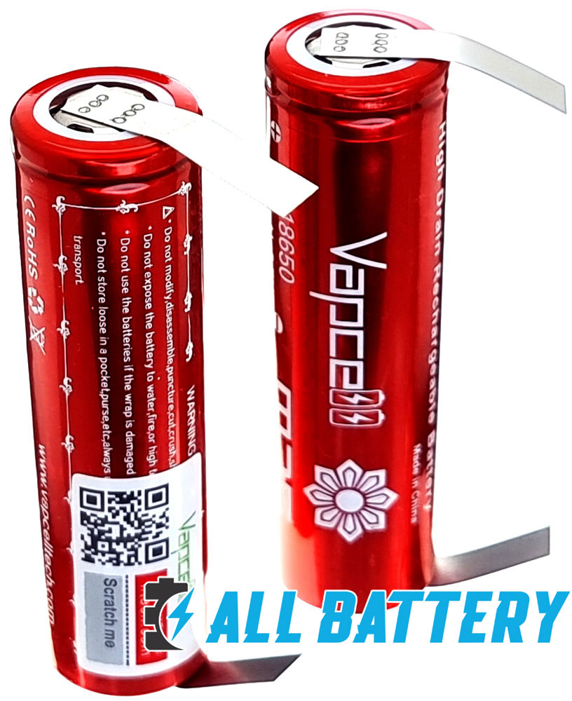 Аккумуляторы Vapcell INR 18650 M35 10A (25A) 3500mAh под пайку.
