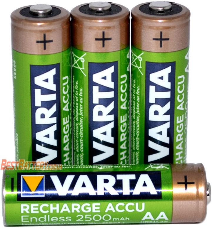 АА аккумуляторы Varta Endless 2500 mAh Recharge Accu в боксе.