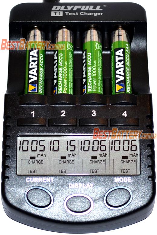 Результаты теста аккумуляторов Varta Pro Power ААА 1000 mAh.