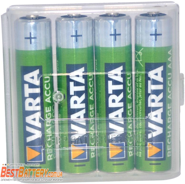 Минипальчиковые аккумуляторы VARTA Pro Power 1000 mAh 4 шт. в боксе.